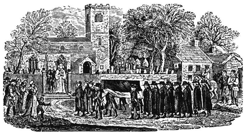 Funeral procession by Thomas Bewick