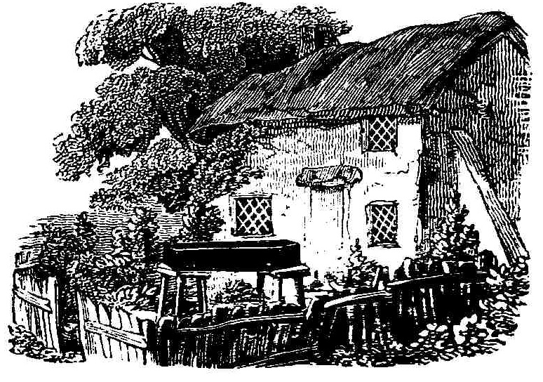 Cottage and coffin, Thomas Bewick